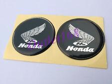 Honda Gas Fuel Tank Round 2inch Sticker Decal Emblem Soft Gel Dome Self Adhesive
