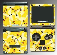 Pikachu Art Pokemon Go Video Game Decal Skin Nintendo Game Boy Advance GBA SP