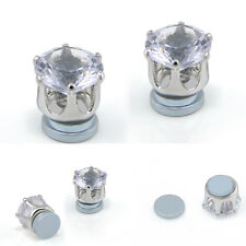 Shiny Crystal Magnetic Stud Earrings Clip On Non Piercing Stud Earrings Gift