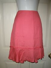 #105 NEW Womens LARRY LEVINE STRETCH SPT Rosy Pink Skirt Zipper 14 NWT