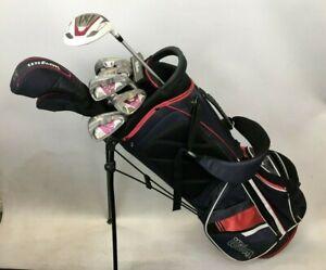 Ladies Wilson Firestick X31 431 SS Golf Club Set x 9 Pink Graphite With Bag  W10