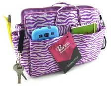Periea handbag organiser,insert ,tidy,organizer,Purse Insert PurpleZebra-Harriet