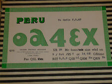 QSL CARD CARTE RADIO lima peru