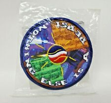 """Official Pepsi Embroidered Patch Guitar Drum Music Notes Round Advertise 4"""" EUC"""