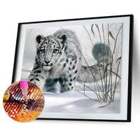 Snow Leopard 5D Diamond DIY Painting  Kit Home Decor Craft AU
