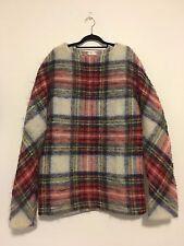 Balenciaga Men's Tartan Check Wool Sweater Size Medium
