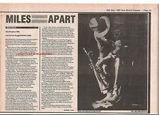 MILES DAVIS Star People / Live album reviews 1983 UK ARTICLE / clipping