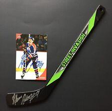 Edmonton Oilers Nhl Hockey Glen Anderson Signed Mini Stick & Autograph Photo