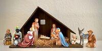 Vintage Goebel Nativity 10 Figurines and Stable