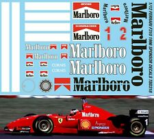 1//8 FERRARI SF71H 2018 MISSION WINNOW DECALS VETTEL RAIKKONEN TB DECAL TBD366