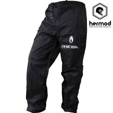 Pantaloni neri in nylon per motociclista Uomo