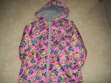 next girls minions rain jacket age 5