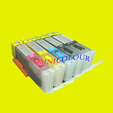 5 refillable compatible ink cartridge for Canon PGI-750 CLI-751 with ink + chips
