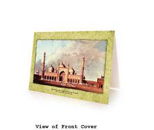 Museum Art: Juma Masjid, Delhi. BLANK ISLAMIC GREETING CARD. Box of 10 Cards