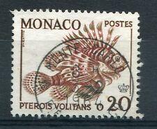 MONACO 1960 timbre 542, poissons, Racasse, oblitéré