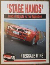 LANCIA DELTA HF INTEGRALE -v- SIERRA RS COSWORTH orig 1992 Road Test Brochure