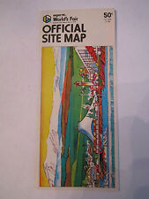 """1974 EXPO WORLD'S FAIR OFFICIAL SITE MAP - GREAT COLORS - 8 1/2"""" X 10 3/4"""" OFC-2"""