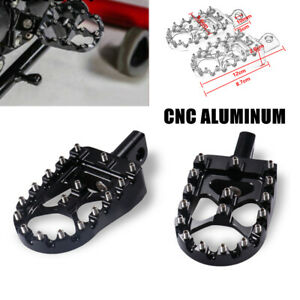 2PCS CNC Front Rotatable Motorcycle Pedal Aluminum Alloy Off Road Foot Rest Peg