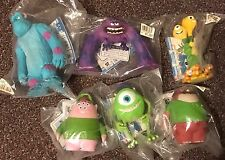 "Monsters University Disney BANDAI Vinyl Figure Set Japan Import 6"" Pixar Inc NEW"
