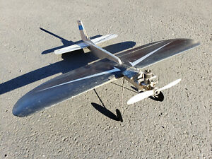 """Vintage Tether Airplane with OHLSSON & RICE (O&R) engine, """"Perfect"""" fuel tank"""