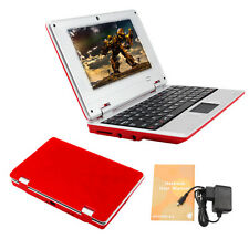 "BRAND NEW 7"" NETBOOK MINI LAPTOP WIFI ANDROID 4GB NOTEBOOK PC RED GIFT UK STOCK"