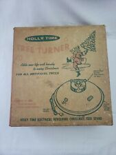 Vintage Holly Time Tree Turner Tree Stand 1960's Christmas tree Turner in box