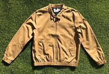 TOPMAN Mens Harrington Jacket Large L Tan Brown | Plaid Bomber Mod UK Casual |