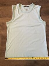 Boys age 14+ Sleeveless Shirt – Pale Blue H&M LOGG Basic Tee, 100% Cotton, Worn