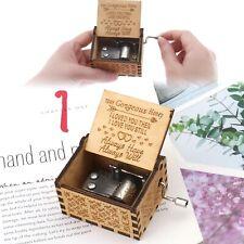 Hand-hölzerne Spieluhr Gravur aus Holz Dekorative Box to my honey Klassisch