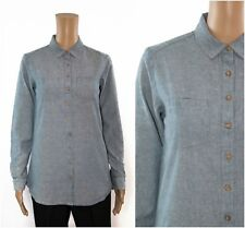 ex Fat Face Denim Chambrey Cotton Boyfriend Shirt