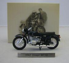 Model Motorcycle 1/24 russian KMZ Dnepr MT10 black. CCCP Soviet Motorbike. Atlas