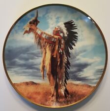 Franklin Mint Prayer to The Great Spirit American Indian Heritage Plate M7934