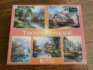 Thomas Kinkade Lot Of 5 Puzzles 🧩 Sealed in plastic