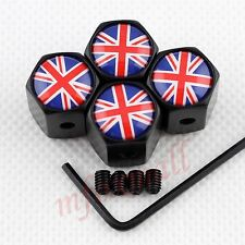 Anti-theft Style Tire Tyre Valve Screw Caps Cover England Kingdom British Flag