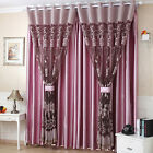 Flower Tulle Door Window Curtain Drape Panel Sheer Scarf Decor Valances 4 Colors