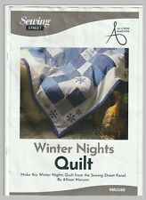 """Sewing Street """"Winter Nights Quilt """" Panel by  Allison Maryon    140cm X 202cm"""