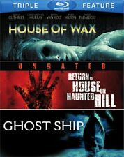 HOUSE OF WAX + RETURN TO HOUSE ON HAUNTED HILL + GHOST SHIP New Blu-ray