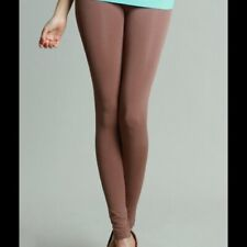 NEW Taupe Thick Solid Leggings by Niki Biki One Size