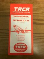TACA International Airlines - System Timetable 26-OCT-1980