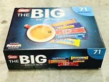 Nestle Big Biscuit Box 71 Bars Breakaway Kit Kat Toffee Crisp Yorkie Blue Riband