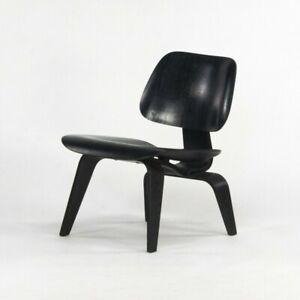 1952 Herman Miller Eames LCW Lounge Chair Wood w/ Ebonized Black Aniline Finish