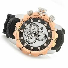 New Mens Invicta 20407 Reserve Venom Sea Dragon Chronograph Rubber Watch