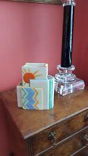 More details for rare art deco cubist vase by beswick handcraft range 1930's