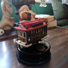"""San Fransisco Cable Car Music Box """"I Left My Heart in San Fransisco"""" Working"""