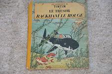 Bd TINTIN Le trésor de Rackham le rouge - 4e plat B11 - Hergé 1954 B 11