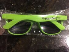 "BlackBerry (RIM) Logo ""BlackBerry 10"" Sunglasses (BRIGHT GREEN) * SWAG * Promo *"