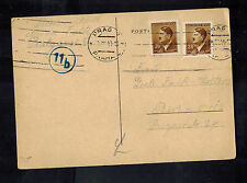 1944 Germany Theresienstadt Concentration Camp package Postcard Cover Irma Falk
