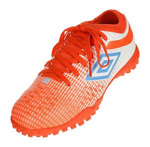 Umbro Men's Velocita IV Club Turf Soccer Shoes, White/Ibiza Blue/Cherry Tomato