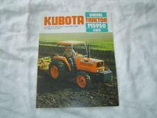 Kubota M5950 4WD tractor brochure