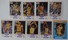 1990-91 Fleer Los Angeles Lakers Team Set Of 9 Basketball Cards